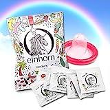 Monsterzeug Einhorn Kondome, Unicorn condoms, Einhorn Produkte, 7 Stück, Lustige Kondome, Spaß Kondome, Vegan, Hormonfrei, Geprüft, einzeln verpackt, Standardgröße