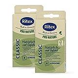Ritex Pro Nature Classic Kondome - natürlich gefühlsecht - nachhaltig fair Made in Germany, 16 Stück