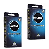 2x My.Size Kondome 64mm - 10er DOPPEL-Sparpaket